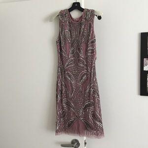Beaded cocktail dress.