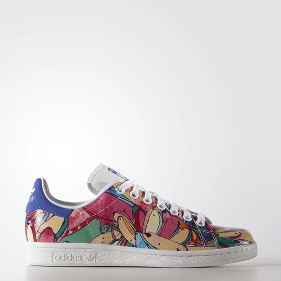 61382d70803 Adidas Banana Print Stan Smith Sneakers
