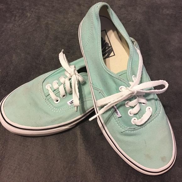 Vans. Canvas Shoes. Women's size 8.5. Teal color