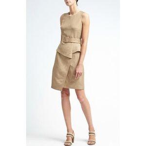 fb771f19a0d Banana Republic Dresses - Banana Republic Linen-Blend Peplum Utility Dress