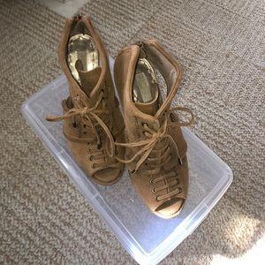 RACHEL by Rachel Roy Tan Leather High Heel Sandal