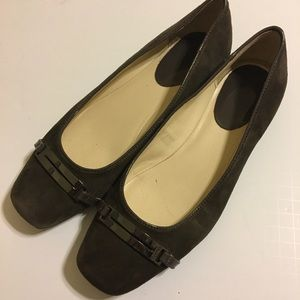 Calvin Klein Suede Taupe Flats