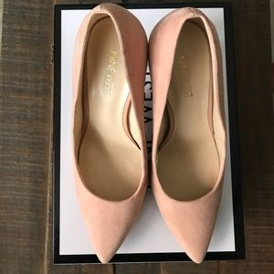 Blush Pointy Toe Pumps