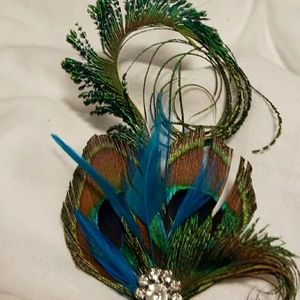 Accessories - Peacock feather hair clip