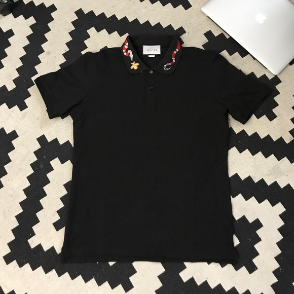 3429ec4a969 Gucci Other - Gucci Polo with Kingsnake Embroidery