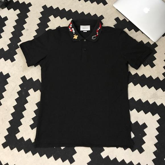 360a9505 Gucci Shirts | Polo With Kingsnake Embroidery | Poshmark