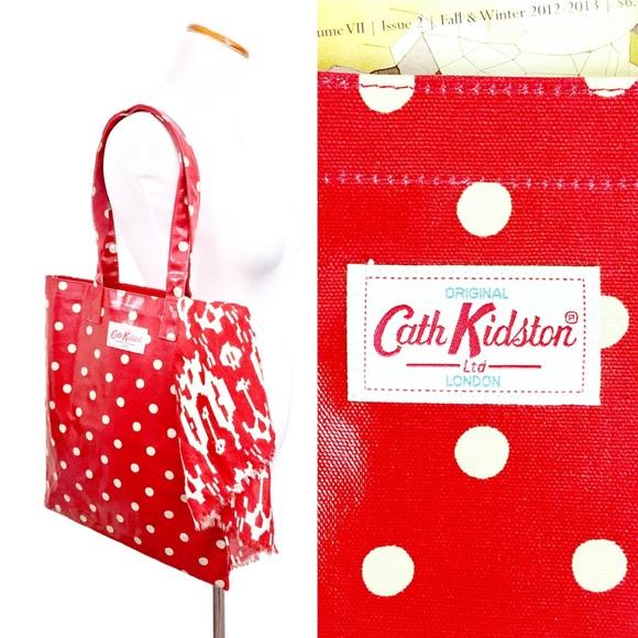 Cath Kidston Red/White Polka Dot Tote + Wallet 🍓