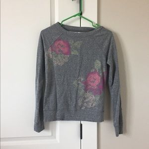 Flowered lightweight sweatshirt