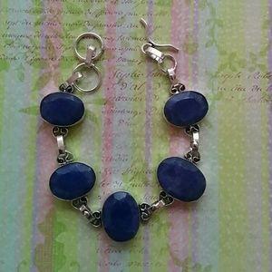 Jewelry - Sterling Silver Lapiz Lazuli Bracelet.
