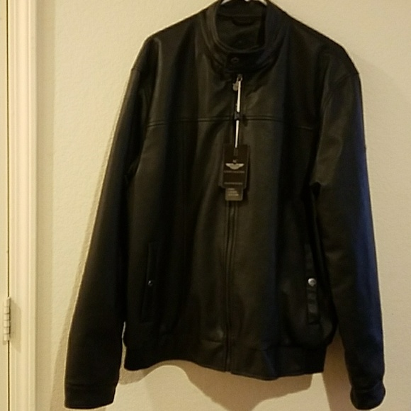 1b6816a15 New Made in Italy Black Faux Leather Luxury NWT