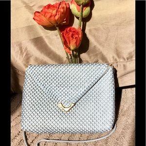 Handbags - Vintage light gray metallic evening bag