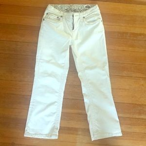 Like new white super trendy Stitch's jeans