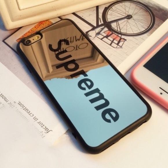 iPhone 7 PLUS   8 PLUS Black Mirrored SUPREME Case fa37d3b3e3f1