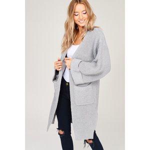 Grey Cardigan with Pockets