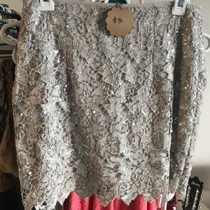 Lace and sequin Muño skirt