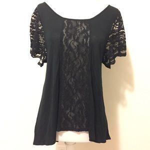UO Black Lace Blouse | Kimchi Blue | S