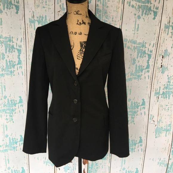 9e059a84eba2 Theory Jackets & Coats | Long Black Blazer Jacket Size Medium | Poshmark