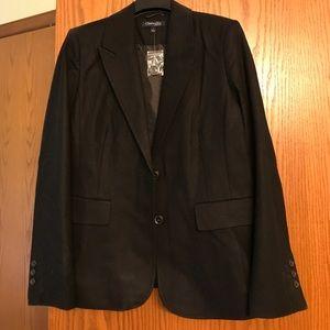 Wool Blazer Black Woman's size 12 New