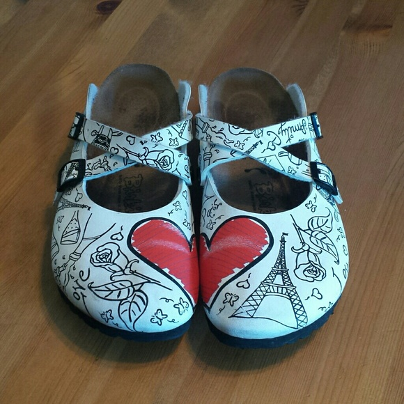 b28bbf4e476e Birkenstock Shoes - Birki s Dorian Valentine Clog Paris Theme