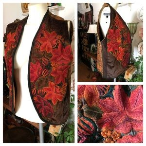 Vintage Artisan-Made Fall Vest