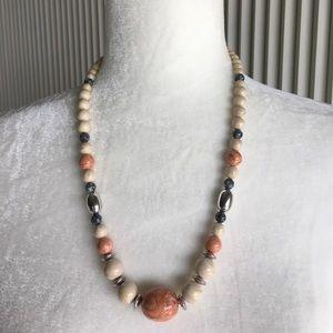 "Jewelry - Vintage Beaded Necklace - 24"""