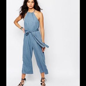 River Island Chambray Jumpsuit