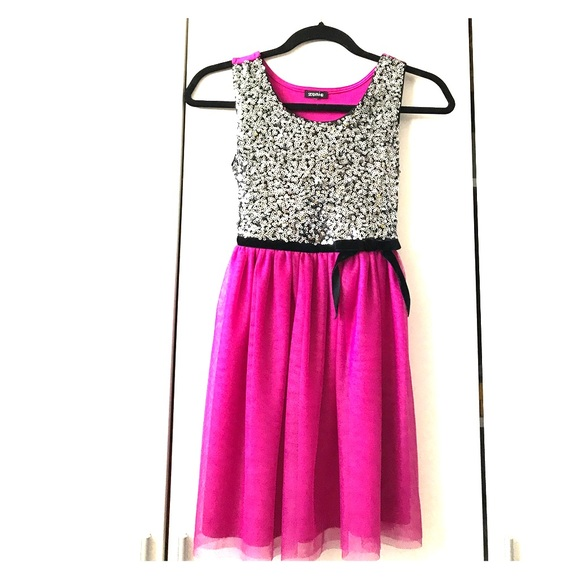 Zunie Dresses | Sequin Tulle Party Dress Size 10 | Poshmark