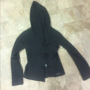 Element button front coat with hood