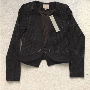 Brand new never worn XS metallic boucle jacket