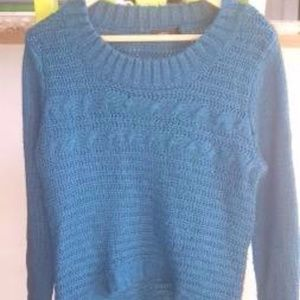 Blue Scoop Neck Millau Sweater Size Small