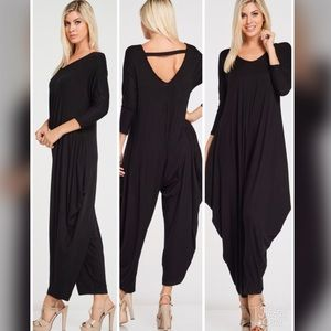 Pants - ✅✅PLUS✅✅RESTOCKED!!  Elena Harem Jumpsuit