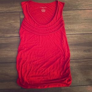 Liz Lange XL Maternity Sleeveless Red Braided Top