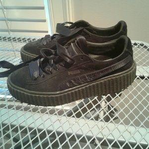 1b4d2946381 Puma Shoes - Fenty × Puma Black Satin Suede Creepers