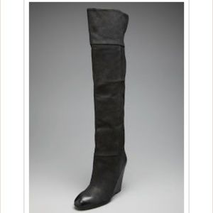 Ash Orchid over the knee Wedge Boot