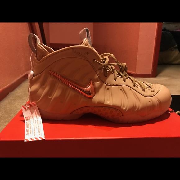 competitive price 977cd c8f6d Nike Foamposite Pro - Vachetta Tan Rose Gold NWT