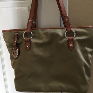 Ralph Lauren olive nylon shopping bag