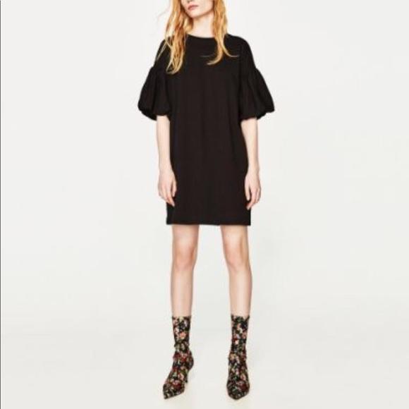 5acaf8ff Zara Dresses | Last Chance Puff Sleeve Short Dress | Poshmark