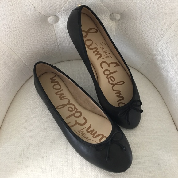 33f95157434a9 Sam Edelman Society Leather Ballerina Flats. M 59fe10e899086a9656091f27