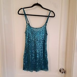 Y2k Sparkly mesh mini dress