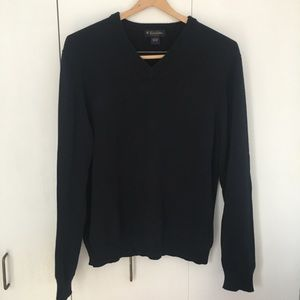 Brooks Brothers Cotton V-Neck Sweater