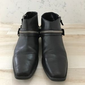 Zara Leather Motorcycle Booties