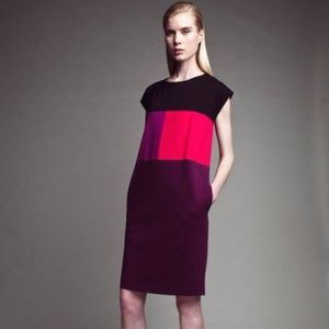 Narciso Rodriguez Color Block Sheath Dress sz XL