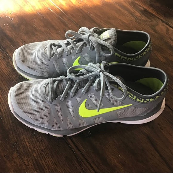 Womens Nike Tennis Shoes Gray And Lime