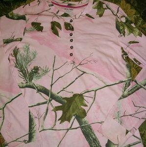 Sz s long sleeve real tree shirt