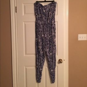 Lilly Pulitzer for Target blue/white  pants romper
