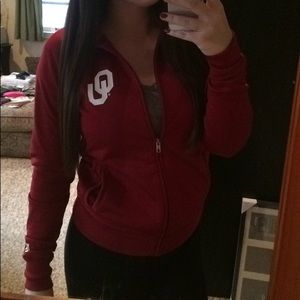 PINK Victoria's Secret Tops - VS Pink Oklahoma University Jacket