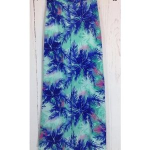Lucy Love Hawaiian Split Sides Maxi Skirt Small