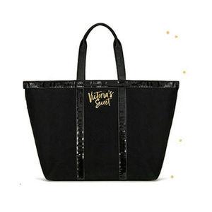VICTORIA'S SECRET Large Black Purse Tote Bag