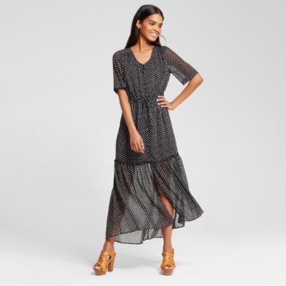 9c59c46646c Tiered maxi polka dot dress. M 59fe1b4641b4e09bc309801e