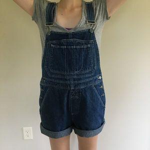 Denim - Vintage Overalls Shorts Denim Jeans Small